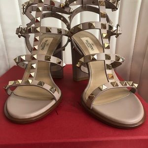 Valentino rockstud sandals size 36